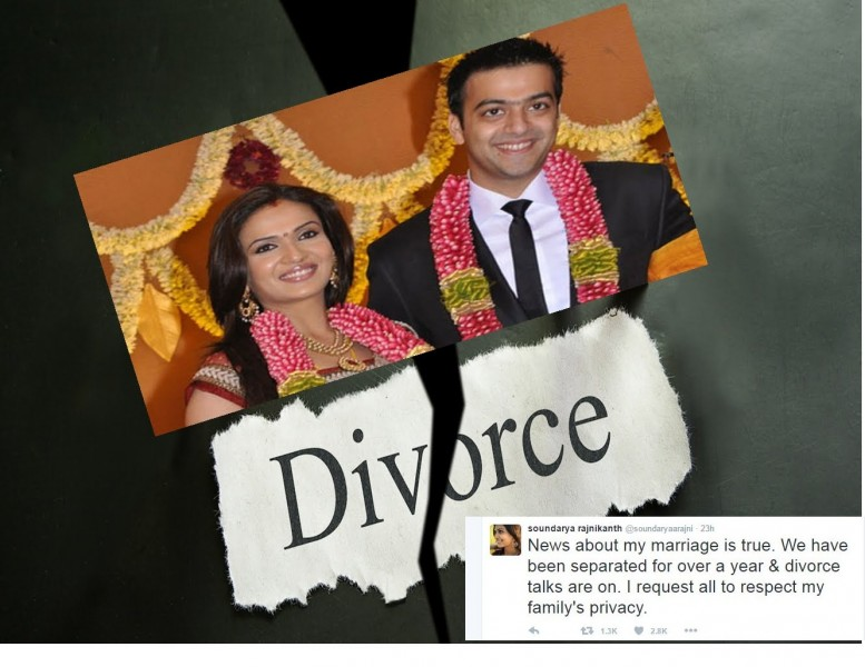 Soundarya Rajinikanth And Ashwin Divorce Pics