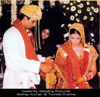 Twinkle Khanna And Akshay Kumar Wedding Photos
