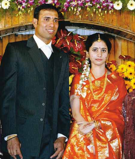 Sailaja And Cricketer VVS Laxman Wedding Pictures