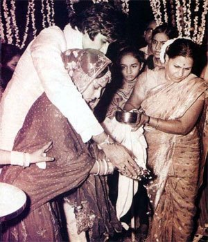 Jaya Bhaduri And Amitabh Bachan Wedding Pictures