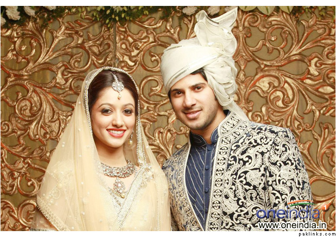Amal Sufiya And Actor Dulquar Salman Wedding Photos