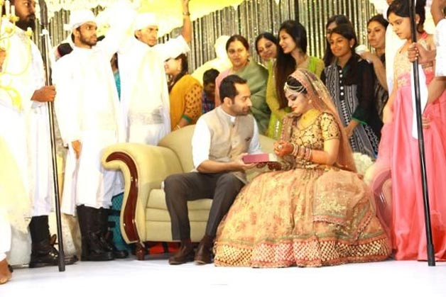 Actress Nazriya Nazim And Fahad Fazil Wedding Photos