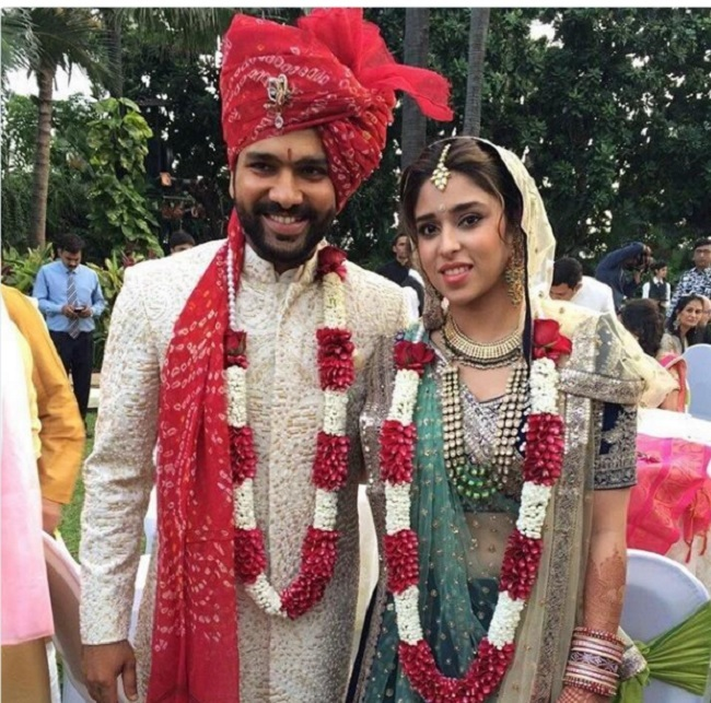 Cricketer Rohit Sharma And Ritika Sajdeh Wedding Photos