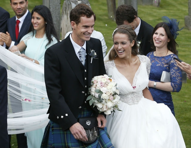 Andy Murray And Kim Sears Marriage Photos