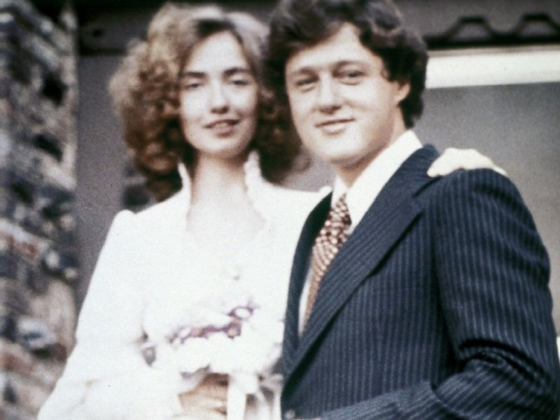Bill Clinton And Hillary Clinton Wedding Photos