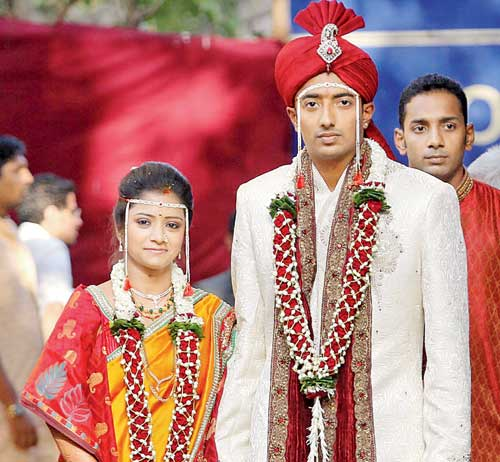 Indian Cricketer Ankeet Chavan And Neha Sambhare Marriage Photos