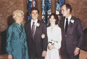 George W Bush And Laura Bush Wedding Photos