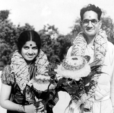 M.S.Subbulakshmi And Sadasivam Wedding Photos