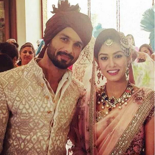 Mira Rajput And Shahid Kapoor Marraige Photos