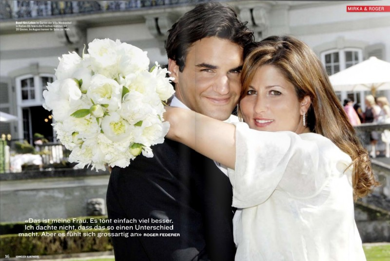 Mirka Vavrinec And Roger Federer Marriage Photos