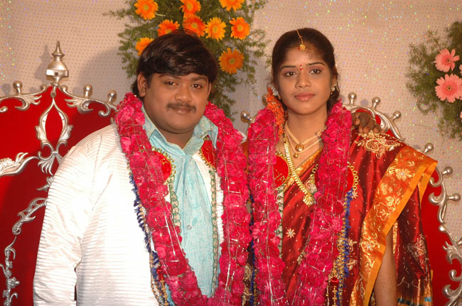 Comedy Actor Suman Setty And Naga Bhavani Wedding Photos