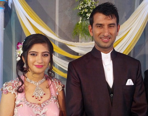 Indian Cricketer Cheteswar Pujara And Puja Pabari Wedding Photos