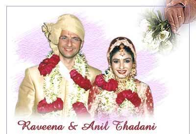 Raveena Tandon  And Anil Thadani Marriage Photos