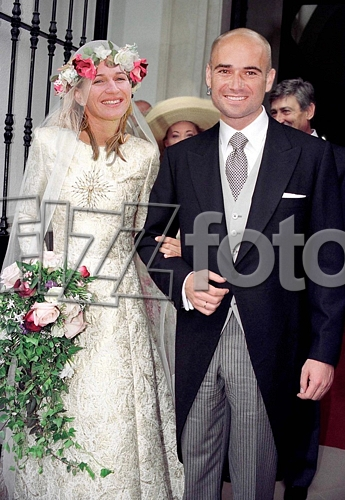 Andre Agassi And Steffi Graf Wedding Photos