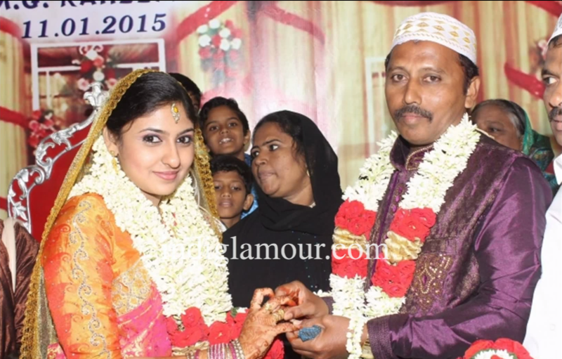 Tamil Actress Monica And Malik Wedding Photos