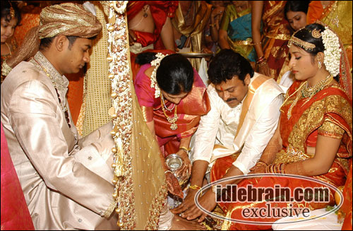 Chiranjeevi Daughter Sushmita And Vishnu Prasad Marriage Photos