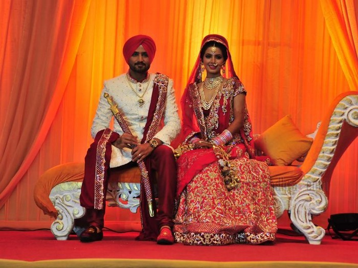 BollyWood Actress Geeta Basra And Indian Cricketer Harbhajan Singh Marriage Photos