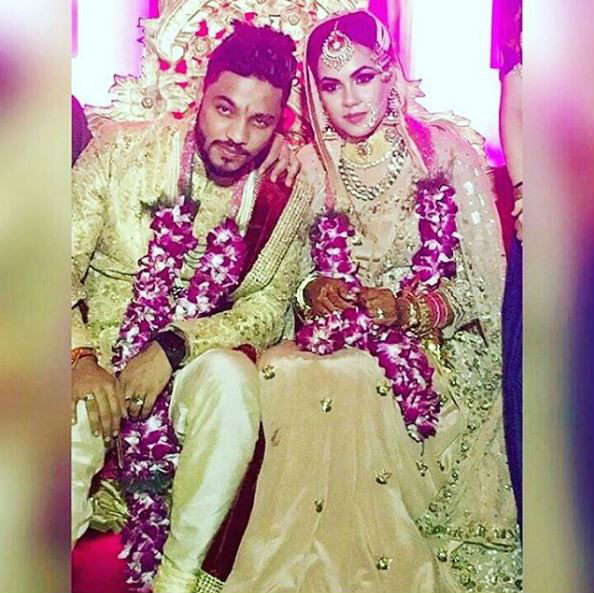 Rapper Raftaar And Komal Vohra Wedding Photos