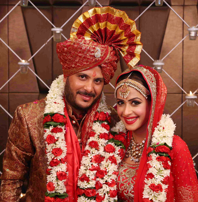 Dimple Jhangiani And Sunny Asrani Marriage Photos