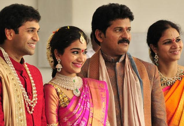 TDP Revanth Reddy Daughter Nymisha Reddy And Satyanaryana Reddy Wedding Photos