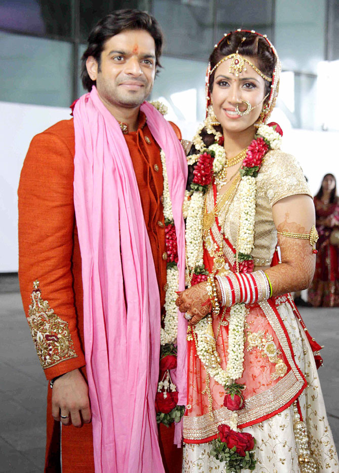 TV Actor Karan Patel And Ankita Bhargava Wedding Photos