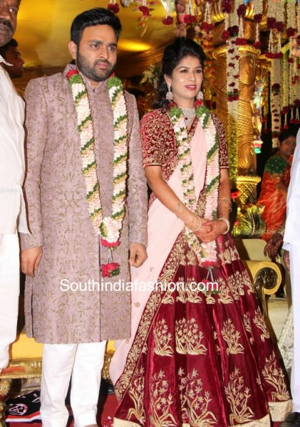 Talasani Srinivasa Yadav Daughter's Marriage Pics