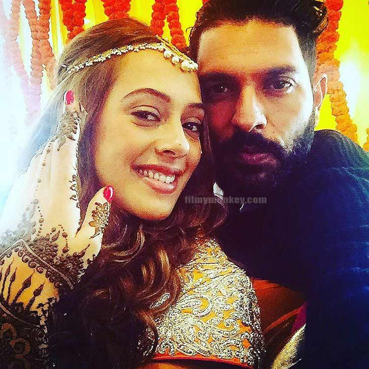 Yuvraj Singh And Hazel Keech Marriage Photos
