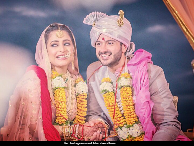 TV Actor Dhruv Bhandari And DID Judge Shruti Merchant Marriage Pics