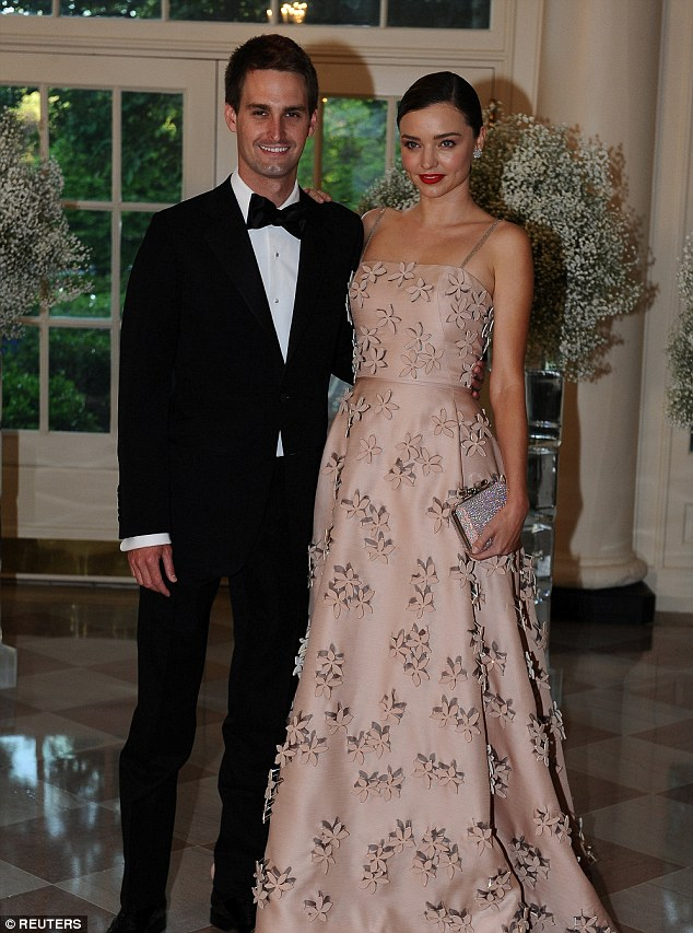 Supermodel Miranda Kerr And Snapchat CEO Evan Spiegel Marriage Pics