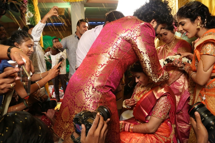 Actress Namitha And Veerandra Chowdhary Marriage Pics