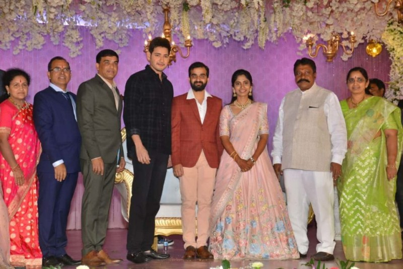 Celebs At Dil Raju's Nephew Harshith Reddy And Gowthami Wedding Reception