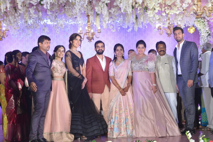 Celebs @ Dil Raju Nephew Harshith Reddy Wedding Reception Gallery