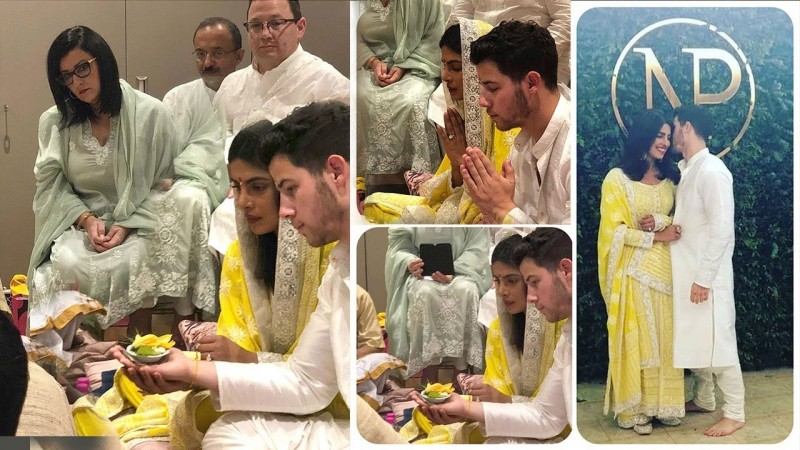 Priyanka Chopra And Nick Jonas' Roka Ceremony Photos