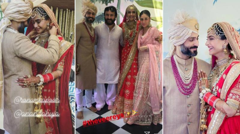 Sonam Kapoor And Anand Ahuja Wedding Pics