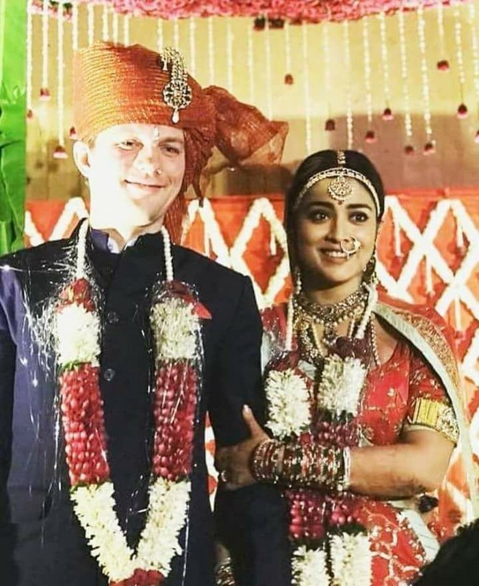 Shriya And Andrei Koscheev Wedding Pics