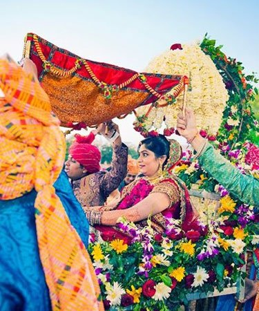 Grand Wedding Entrance Of Real Indian Brides