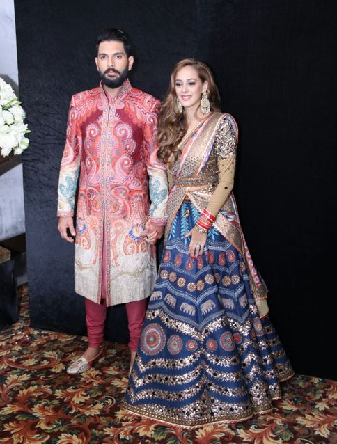 Yuvraj Singh Wedding Reception Pics