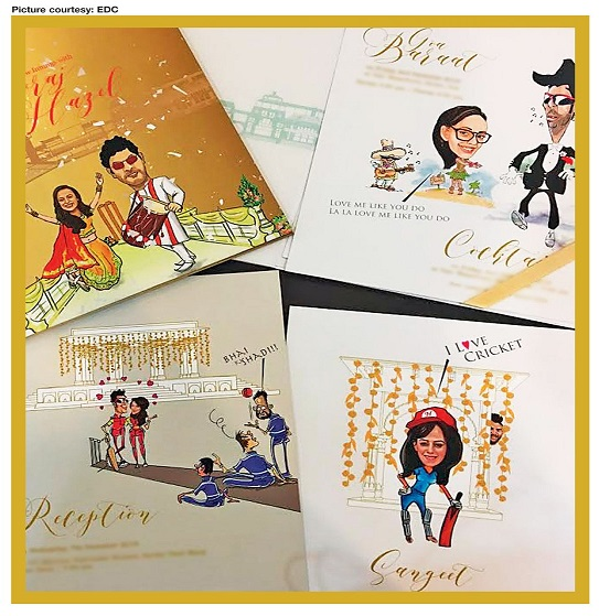 Designer Wedding Cards For Yuvraj Singh-Hazel Keech Marriage