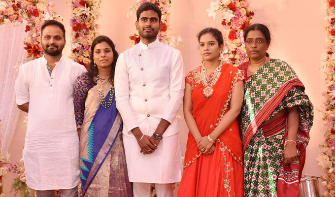 Paritala Sunitha Daughter Sneha Latha Engagement Photos