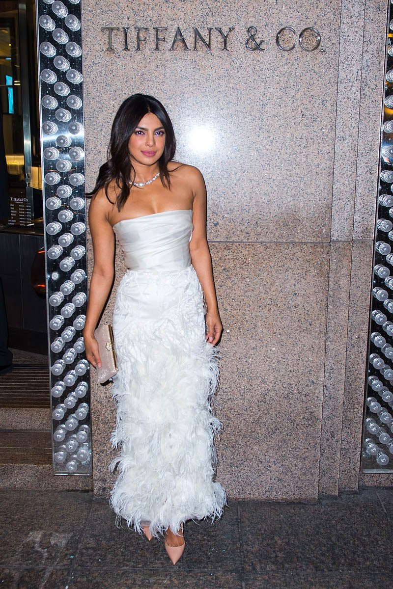Priyanka Chopra Arrives For Her Bridal Shower At Tiffany's Blue Box Cafe In Midtown On October 28, 2018 In New York City
