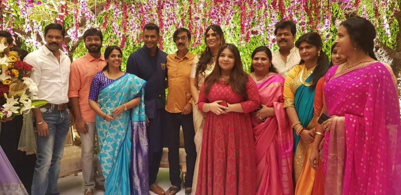 Vishal And Anisha Reddy Engagement Pics