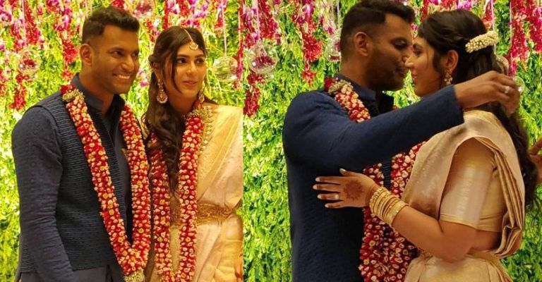 Vishal And Anisha Reddy Engaged Pics