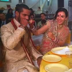 Ayesha Mukherjee�s Wedding With Shikhar Dhawan