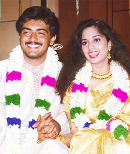 Ajith Shalini Marriage Photos