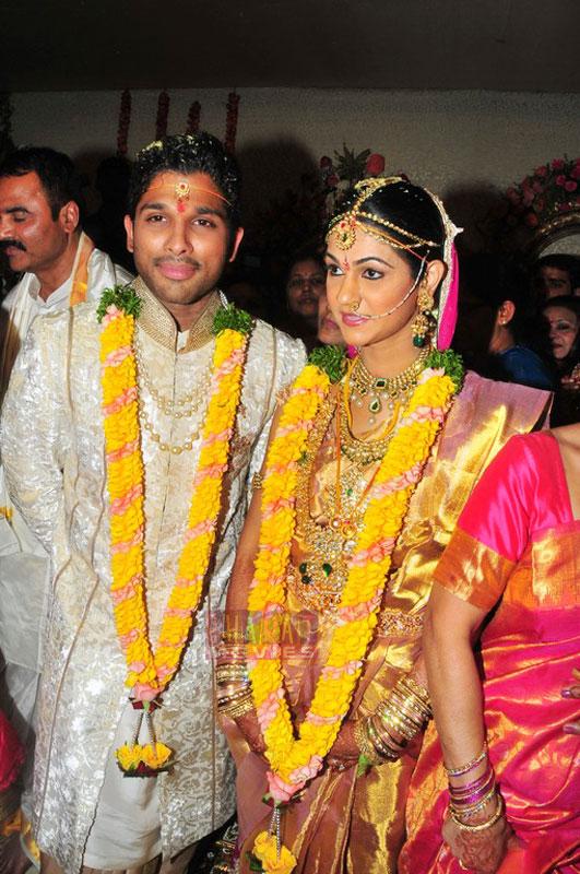 Allu Arjun Sneha Reddy Marriage Photos
