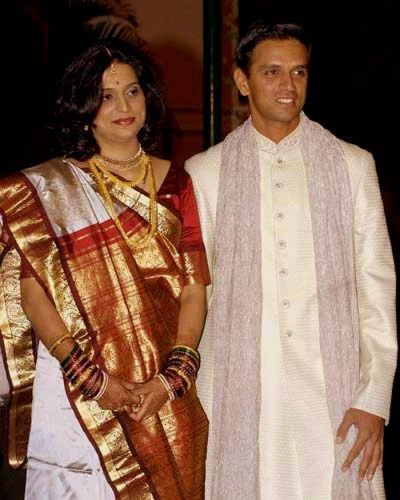 Cricketer Rahul Dravid And His Wife Vijeta Wedding Photos