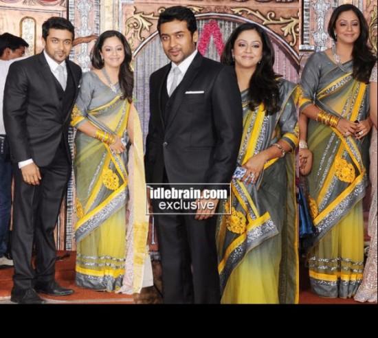 Tamil Actor Suriya And Jyothika Wedding Photos