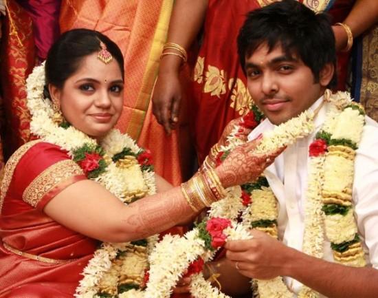 Singer GV Prakash Kumar And N Saindhavi Wedding Photos