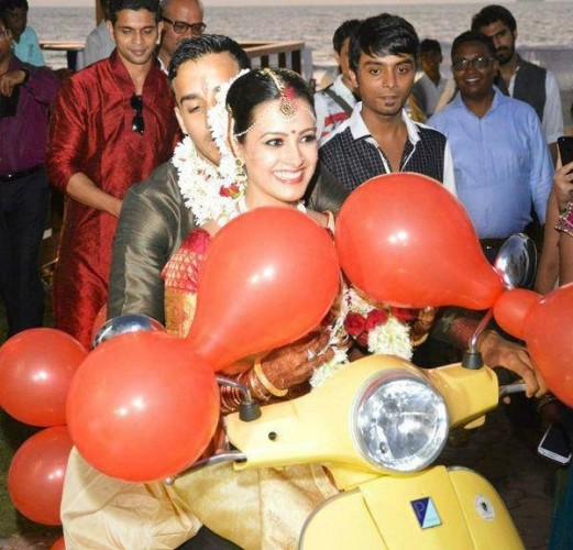 Rohit Reddy And Actress Anitha Wedding Photos