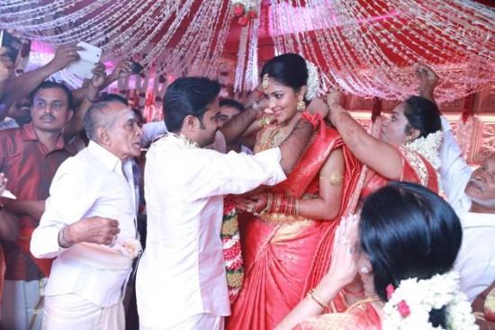 Amala Paul And Director Al Vijay Wedding Photos